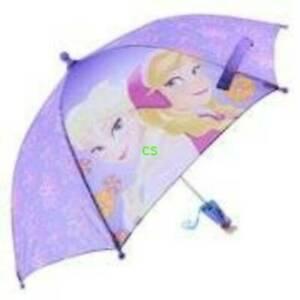 Disney Frozen Elsa & Anna Purple Umbrella with 3D Anna & Elsa Handle - New