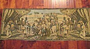 "Vintage Belgium? Desert Arabian Tapestry Wall Hanging Oasis 20"" x 55"""