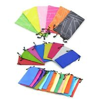 10 pcs Microfibers Pouch Bag Cleaning Cases for Sunglasses Eyeglasses Glasses