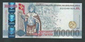 ARMENIA  100,000  100000 DRAM  2009 P- 54 UNC