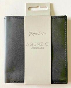 Paperchase Agenzio Black Pass Case Bus Rail Card Holder Wallet Card Case