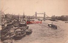 1938 THE POOL OF LONDON Batavier Line, many boats, docks Thames, C.F. Castle