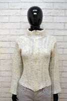 MARLBORO CLASSICS Maglione Taglia M Cardigan Donna Pullover Sweater Lana Felpa