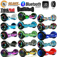 """6.5"""" Electric Hoverboard Scooter Bluetooth LED UL2272 Self-Balancing With Bag"""