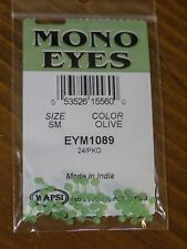 Wapsi Mono Eyes for Fly Tying, size Small - Olive