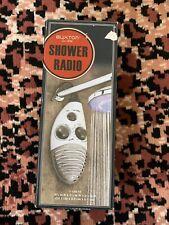 New In Box Buxton Shower Hanging Radio - Gray