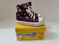 New listing SMART FIT Girls Size 6 Hi Top Sneaker Tennis Shoes Brown 73405 ~ New ~ NIB