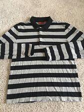 Hugo Boss Mens Black and White Nonoso Long Sleeve Polo size XL