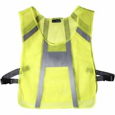 Ultra Lightweight Unisex Reflective Hi-Vis Yellow Running Vest Cycling Safety