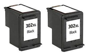 2x Tintenpatrone Black 302XL Alternativ zu HP F6U68AE Officejet 3830 18ml