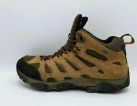 Merrell Men Moab Mid Waterproof Continuum Vibram Brown Hiking Boots J88623 Sz 14