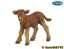 Papo LIMOUSIN CALF solid plastic toy farm pet brown baby animal NEW 💥