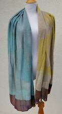 CATHERINE ANDRE' BLUE GREEN CIRRUS SCARF WRAP