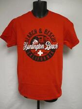 New Huntington Beach CA California Mens Size M Medium Red Shirt