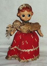1950s Vintage #Wind-Up# Tinplate Celluloid Head Dressed Doll Clockwork Toy Japan
