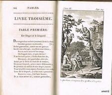 FLORIAN FABLES Billois 1810 bel exemplaire complet 5 gravures
