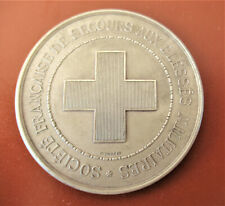 FRANCE-1903-RED CROSS-WOUNDED SOLDIERS- SILVER MEDAL byTROTIN - RARE