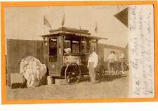 Real Photo Postcard RPPC - Men and Roasted Peanut Wagon