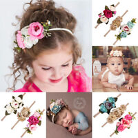 Various Baby Girl Flower Hairband Soft Elastic Headband Hair Accessories Band