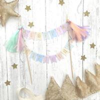 Unicorn Cake Topper. Bunting, Hen, First Birthday, Hen Party, Christening, Baby
