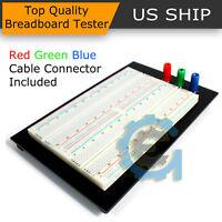 Solderless Breadboard Protoboard T/P Tie-point 1610 Hole PCB Prototype Board US