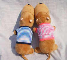 Two pcs Pink & blue Dog decorative neck roll cushion hold pillow 42CM NEW