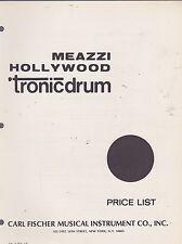#MISC-0274 - 1969 MEAZZI TRONIC DRUM musical instrument catalog price list