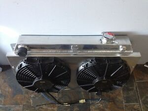 """TWIN 12"""" THERMO FANS & ALLOY SHROUD suit HOLDEN CHEV V8 LS1 LS2 LS3"""