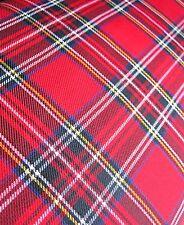 """Tartan rouge royal stewart carreaux tissu demi mètre 58"""" intérieur vêtements craft"""