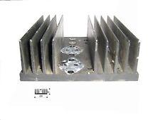 Dissipatore termico in alluminio per elettronica  120x42x127mm preforato 2 TO-3