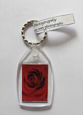 Red Rose Keyring keychain UNIQUE RARE NEW handmade flower VALENTINES