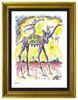 "Salvador Dali Signed/Hand-Numbered Ltd Ed ""Celestial Elephant "" Print (unframed)"