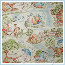 BonEful Fabric FQ Cotton Quilt VTG Winnie the Pooh Park Bear Piglet Baby Nursery