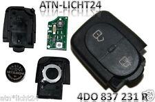 Audi Schlüssel Sendeeinheit Gehäuse 2 Tasten 4D0837231R 4D0 837 231 433,92Mhz