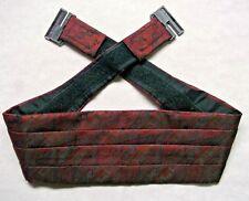 Cummerbund Mens Pleated Vintage Sash 1990s SHIMMERY DARK RED WINE