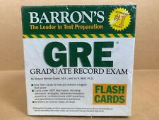 NEW Barron's GRE Flash Cards College Learning Testing Home Schooling Education