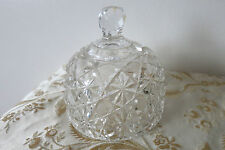 VINTAGE ABP CUT CRYSTAL BUTTER DOME - DAISY & BUTTON DESIGN