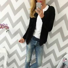 Women Autumn Winter Polyester Casual Slim Cardigan Outerwear Fleece Jacket Coats