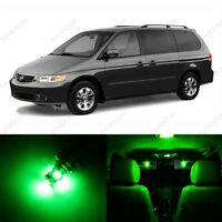 13 x Green LED Lights Interior Package Kit for Honda Odyssey 1999 - 2004 + Tool
