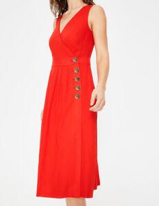 BODEN  Damen Midi kleid - Arwen Midi Dress -Rot  uk14R 40 42
