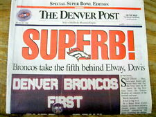 Best 1998 newspaper DENVER BRONCOS win football SUPER BOWL vs Green Bay Packers
