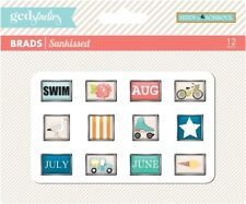 GCD Studios Sunkissed by Heidi Sonboul Brads for Paper Crafting Card Making