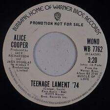 ALICE COOPER: Teenage Lament USA DJ PROMO Orig WB NM Rock Classic!