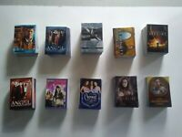 10 Non Sports Base Trading Card Sets - Riddick , Xena , Charmed , Angel , 007
