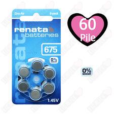 60 Batterie per protesi acustiche apparecchi acustici RENATA MARATONE ZA 675