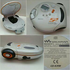 SONY D-CS901 S2 Sports Walkman / Discman / MP3 CD Player - White in VGC