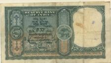 5 Rupee Independent India note 6 Deers Rare A Collectible with Free One Rupee Nt