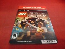 Lego Pirates of the Caribbean PS3 Blockbuster Store Promo Display Card ONLY