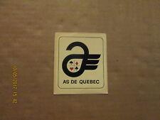 AHL AS DE QUEBEC ACES Vintage Defunct Team Logo Hockey Water Decal