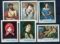 RUMANIA / ROMANIA / ROEMENIE  año 1968  yvert nr. 2371/76  nueva pinturas